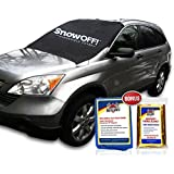 SnowOFF Car Windshield Snow Cover & Sun Shade Protector Kit for Cars & CRVs
