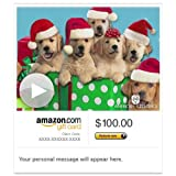 Amazon Gift Card - E-mail - Caroling Canines (Animated) [American Greetings]