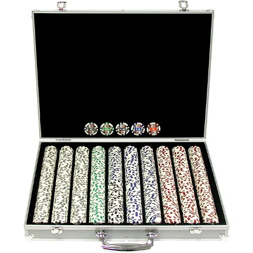 1000 11.5g 4 Aces Poker Chip Set avec bo-tier en aluminium