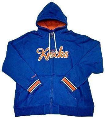 New York Knicks Mitchell&Ness Hardwood Classics Full Zip Hooded Sweatshirt by Mitchell & Ness