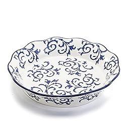 BIA Cordon Bleu White Stoneware Fluted 10 inch Pie/Quiche Dish