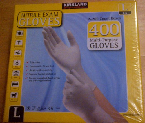 kirkland-nitrile-exam-gloves-400-grande-multiuso-privo-di-lattice