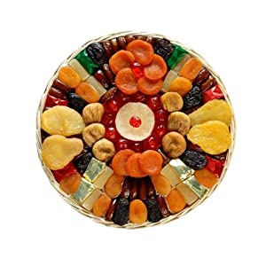 Heart Healthy Floral Dried Fruit (Medium) Gift Basket by Broadway Basketeers