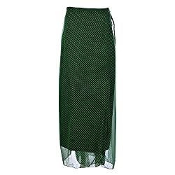 Geroo Women Laheriya georgette long wraparound skirt : Free Size