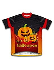 Creepy Pumpkins Short Sleeve Cycling Jersey for Women