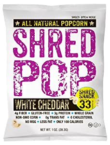 SHRED POP popcorn (White Cheddar)