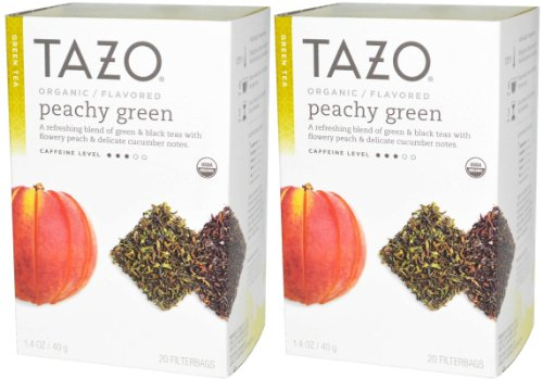 Tazo Organic Green & Black Tea Peachy Green 2-pack;40 Tea Bags.