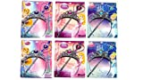 Disney Princess Tiara & Wand Set x 6 (2 xCinderella, 2 xPrincess Aurora, 2 X Tangled)
