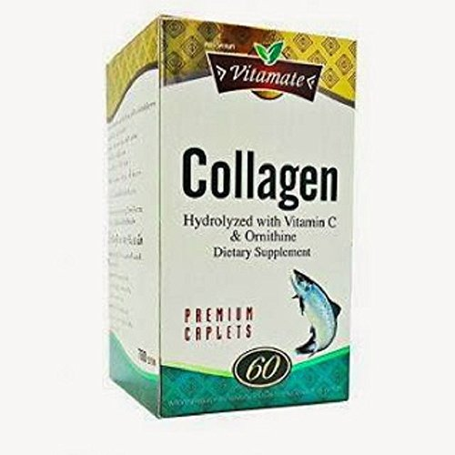Vitamate Collagen Hydrolyzed With Vitamin C & Ornitine 60 Caplets .