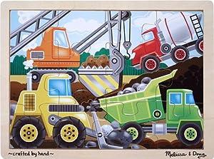 Melissa & Doug Construction Site 12 Piece Jigsaw Puzzle