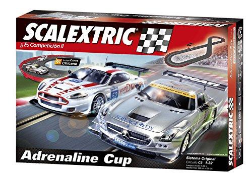 Scalextric A10130S500 - Original, Pista Adrenaline Cup, scala 1:32, sistema analogico, piste digitalizzabili