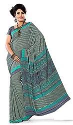 Design Willa Smooth feel Art crepe Sari (DWPC005,Grey)
