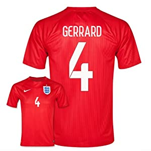 2014-15 England World Cup Away Shirt (Gerrard 4) by Nike