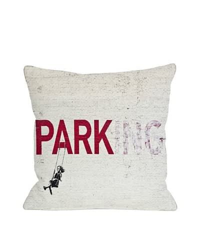 Banksy Parking Pillow As You See