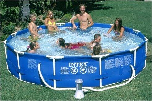 do a skim through 12 x 30 intex metal frame pool intex pool