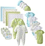 Gerber Unisex-Baby Newborn Neutral 19 Piece Newborn Essentials Gift Set