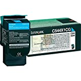 Lexmark C544/X544 Series Extra High Yield Return Program Toner Cartridge - Cyan LE0C544X1CG