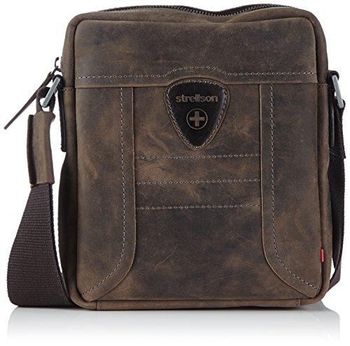 Strellson shoulderbag SV 02/92/14085, Borsa a spalla uomo, 19,5x23x6 cm (L x A x P), Marrone (Braun/darkbrown), 19,5x23x6 cm (L x A x P)