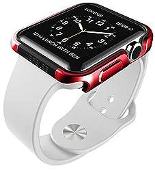 X-Doria 42mm Apple Watch Case Defense Edge Premium Aluminum and TPU Bumper Frame Metallic Red Metallic Red