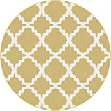 Universal Rugs 1033 Yellow 7 ft. 10 in Round Transitional Area Rug- TAY