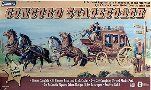 Lindberg [LND] 1/16 Concord Stage Coach Plastic Model Kit 70351 LND70351 ,#G14E6GE4R-GE 4-TEW6W216436 (Stagecoach Model Kit compare prices)