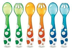 (宝宝)麦表齐婴儿可爱餐具 3餐叉和3匙Munchkin 6-Pack Spoons & Forks,$3.49