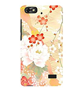 Floral Abstract Design 3D Hard Polycarbonate Designer Back Case Cover for Huawei Honor 4C :: Huawei G Play Mini