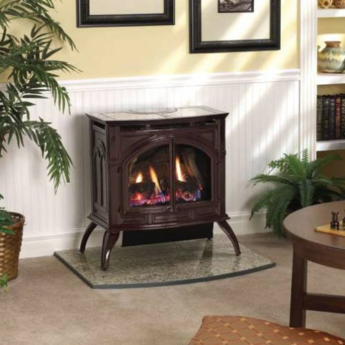 Empire Vfp30Ca30 Heritage Vent-Free Cast Iron Gas Stove With Matte Finish - Natural Gas - Vfd-30-Cc front-5546
