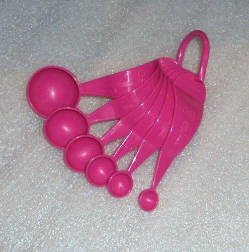 Tupperware Measuring Spoons, Set of 6, Fuchsia Pink (Tupperware Measuring Spoons compare prices)