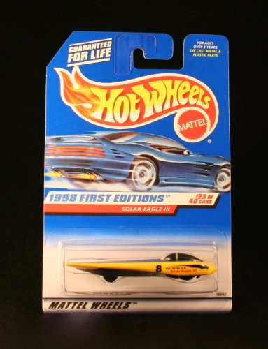 Hot Wheels 1998 First Editions: Solar Eagle III (#23 of 40) 1:64 Scale Collector Car #650 - 1