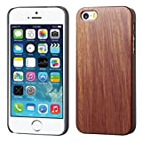 MyBat TimberWood Back Protector Cover for iPhone 5s - Retail Packaging - Burma Rosewood