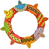 Six Senses Handicraft Wooden Rangoli Pattern (30 Cm X 30 Cm X 1 Cm)