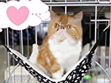 Beleciet  ペット用 あったか もこもこ ハンモック ベッド 猫 小型犬 小動物 喜ぶ! (水玉L)