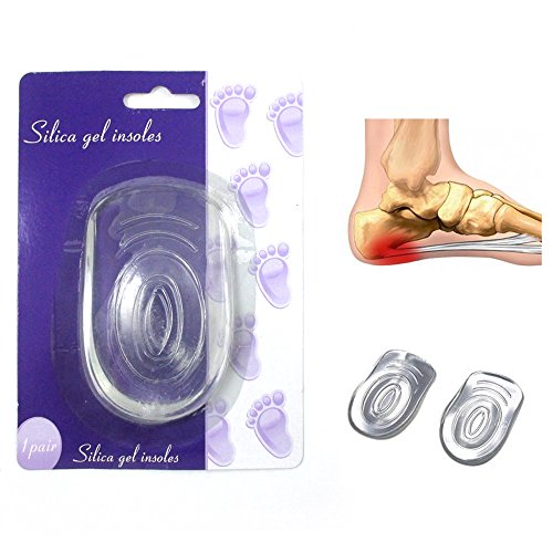 1 Pair Heel Cushion Pad Insole Soft Silicone Gel Pain Heel Spur Support Inserts front-527108