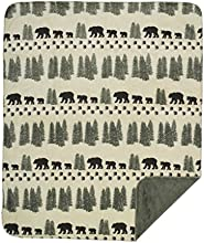 Denali Home Collection by Mont Double-Sided Reversible Throw 50 by 60-Inch Pearl Denali BearSage