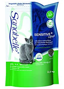 Sanabelle Sensitive Geflügel Katzenfutter, 1er Pack (1 x 2 kg)