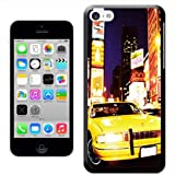 Fancy A Snuggle 'Yellow Taxi Cab in New York Times Square USA' Hard Case Clip On Back Cover for Apple iPhone 5C