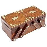 ITOS365 Handmade Wooden Jewelry Box / Case / Storage for Women Jewel Organizer Gift Items