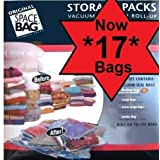 Original Space Vacuum Storage Bags Plus Super Roll Bags - 15 Pack Setby Original Space Bag
