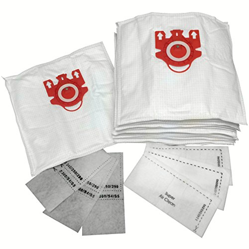 Microfiber Vacuum Bags Designed to Fit Miele FJM Models 15-pack with 6 Filters (Miele Vacuum Bags Fmj compare prices)