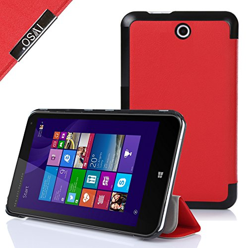 IVSO HP Stream 8 Ultra Lightweight Slim Smart Cover Case-(Lifetime warranty)-will only fit HP Stream 8 Tablet (Red) at Electronic-Readers.com