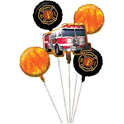 Fire Watch Balloon Cluster (5) Birthday Party Supplies