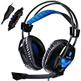 Sades A30 Professional 7.1 Surround Sound USB Stereo Gaming Headset Headphone With Mic Lightweight Design For...