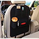 Elaco Auto Car Back Seat Organizer Car Covers Back Seat Organizer Multi-Pocket Storage Container Bag Hanger Hanger (Black)