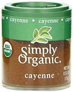 Simply Organic Cayenne Ground, Mini Spice, 0.53 Ounce (Pack of 6)