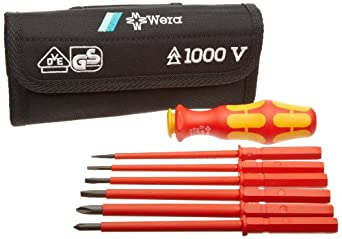Wera 300368 6 Piece Kraftform Kompakt 1000Volt VDE Set with Pouch