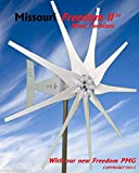 2000 Watt 9 Blade Missouri GeneralTM Freedom II Wind Turbine (Grey, 12/24 volts)