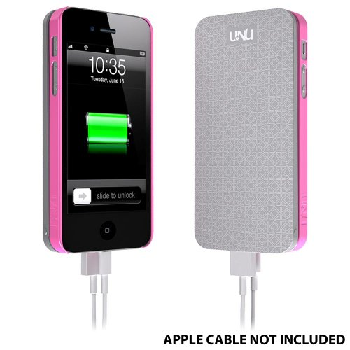uNu Ecopak iPhone 5 Battery Case - Protective Snap-on Case and Detachable External Battery (Silver/Pink, 2500mah, Fits All Version of iPhone 5)