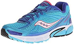 Saucony Women's Ignition 5 Running Shoe,Blue/Pink,8 M US