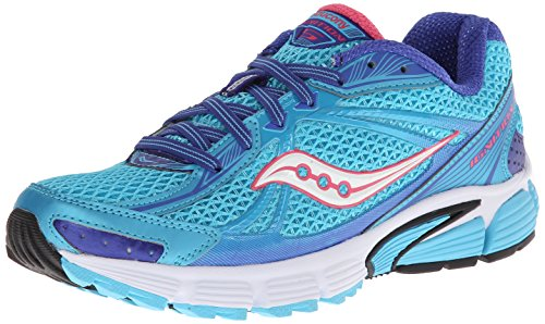 Saucony Women's Ignition 5 Running Shoe,Blue/Pink,6.5 M US